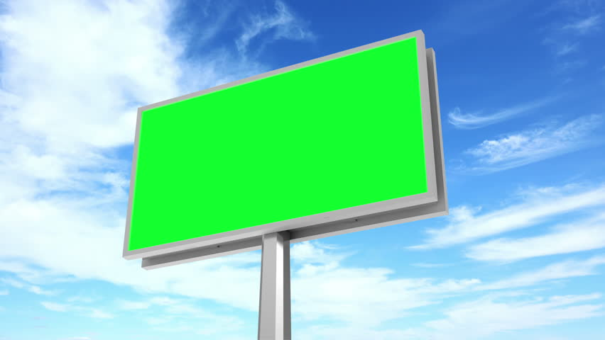 4K Timelapse Animation of Billboard with Green Screen over Clouds Background. 4K Ultra HD 3840x2160 Video Clip | Shutterstock HD Video #14737924