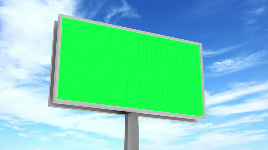 4K Timelapse Animation of Billboard with Green Screen over Clouds Background. 4K Ultra HD 3840x2160 Video Clip | Shutterstock HD Video #14737930