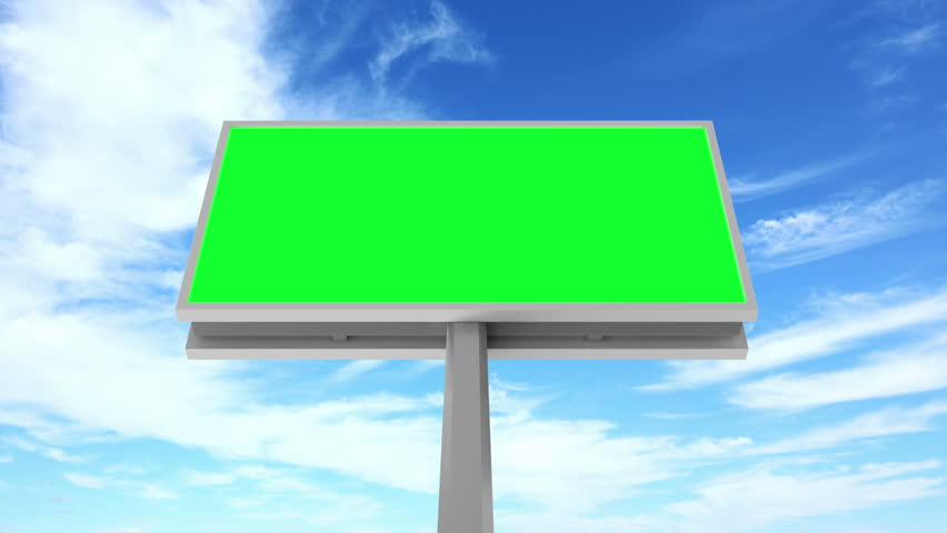 4K Timelapse Animation of Billboard with Green Screen over Clouds Background. 4K Ultra HD 3840x2160 Video Clip | Shutterstock HD Video #14737939