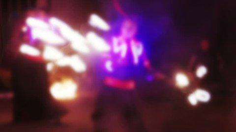 Fier show blur night
