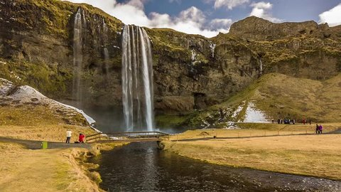 Cinemagraph Loop - Waterfall in Iceland - Motion Photo