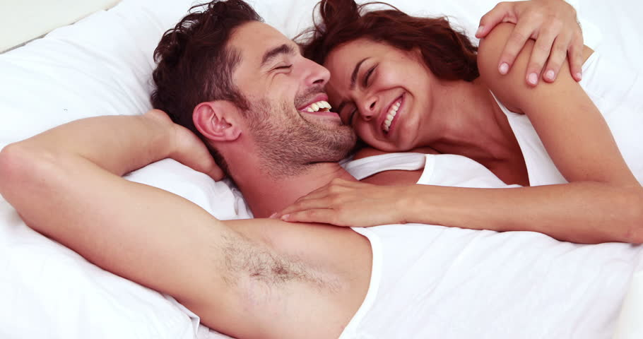 Happy Couple Laughing in Bed Stock Footage Video (100% Royalty-free)  14799685 | Shutterstock