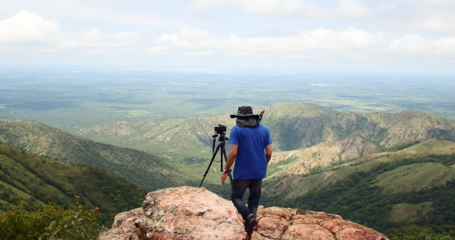 CHAPADA DOS GUIMARAES, MATO GROSSO, BRAZIL. CIRCA JANUARY 2016: On Top of Mountain. Chapada dos Guimaraes, Brazil. Family, children, selfie, photo | Shutterstock HD Video #14810203
