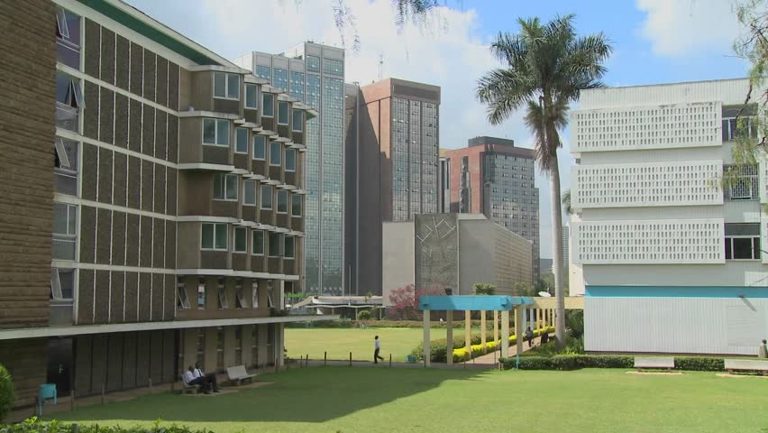A nice establishing shot of the University of Nairobi in Kenya.