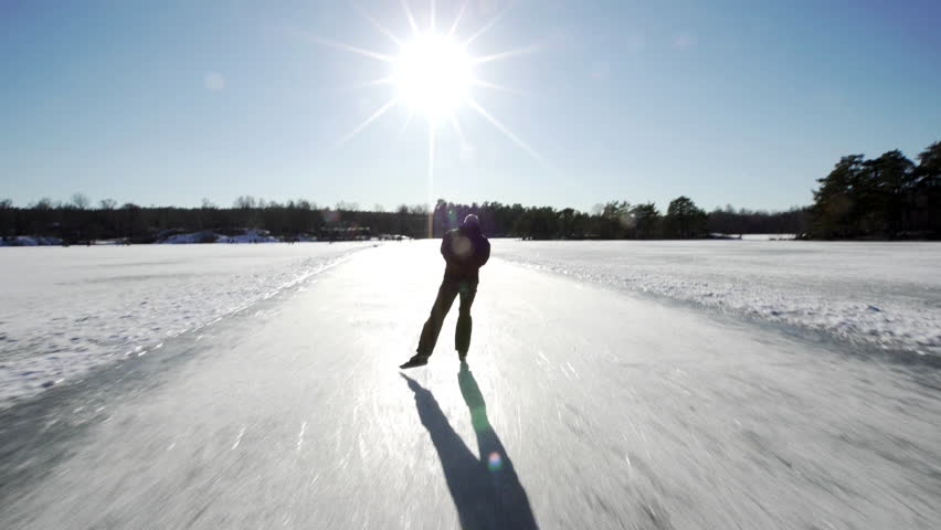 Tour skating / Nordic skating. A popular winter activity in Sweden.