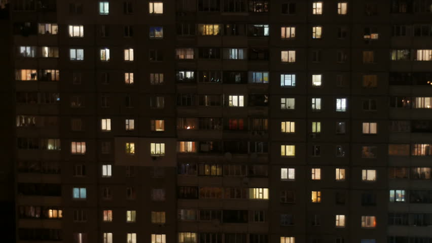 windows of a multistory building. Time lapse loopable #14898775