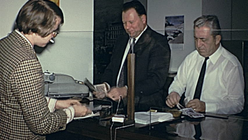 AUSTRIA - 1970: people working in the office