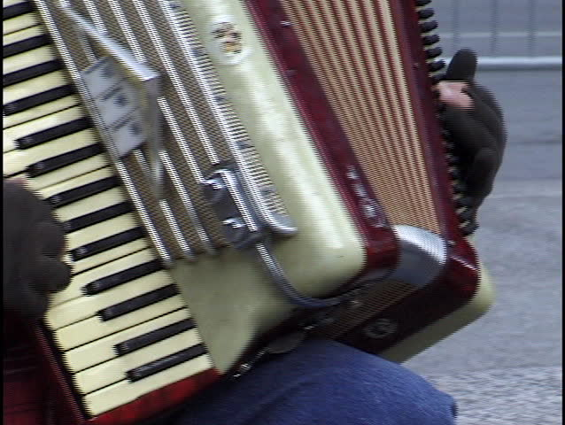 playing accordian