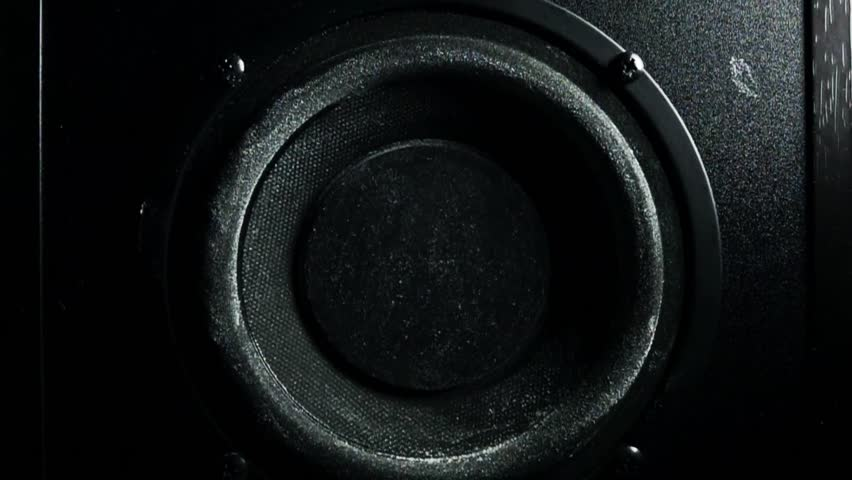 Loud speaker throws dust in the air. Super slow motion. Equalizer concept #14946343
