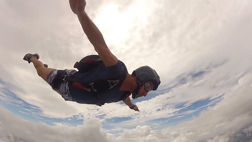 Skydiving performance man