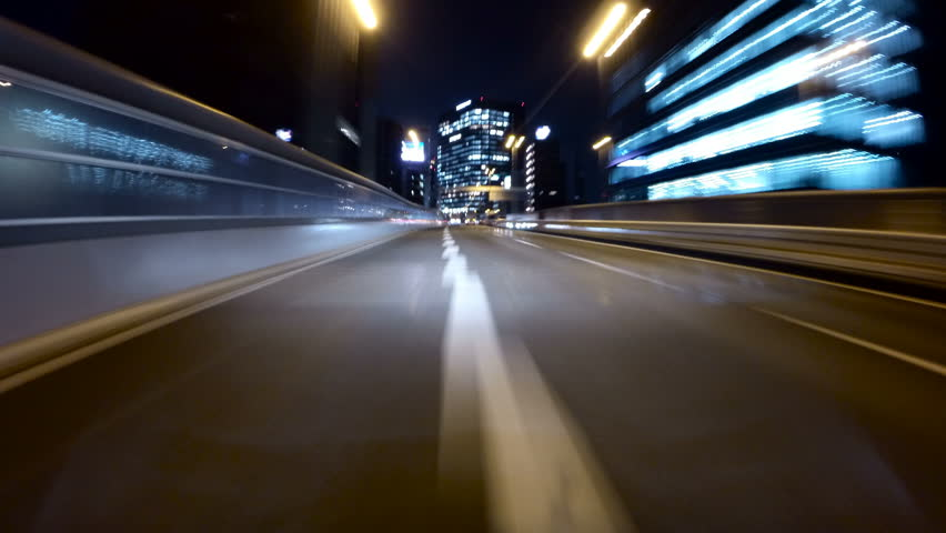 Motion POV timelapse through the bright city lights of central Tokyo. | Shutterstock HD Video #14964100