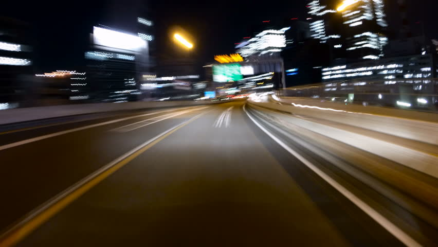 Action hyperlapse through the ring route of Tokyo Metropolitan Highway. | Shutterstock HD Video #14964106