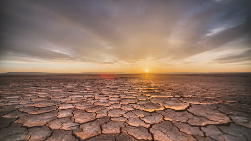 Tracking Time Lapse Desert Playa Dawn in vivid HDR Sunrise
