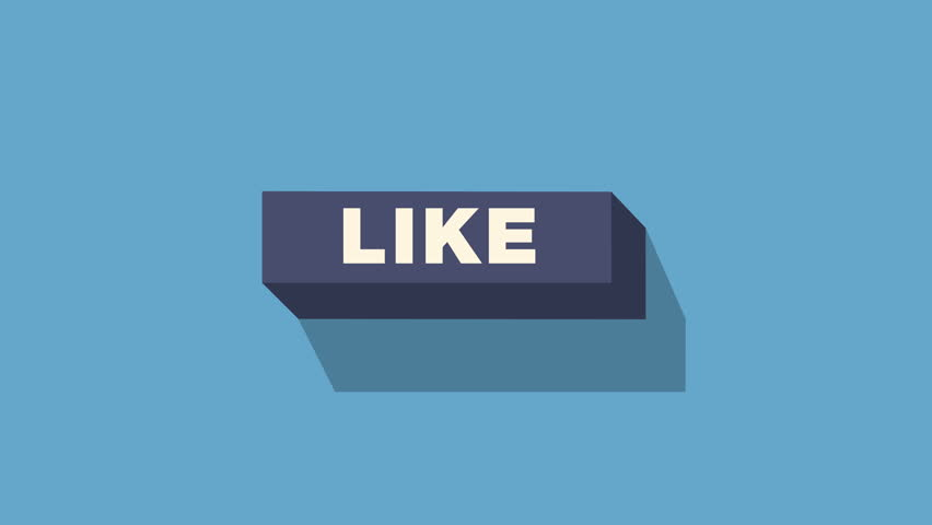 Social Network concept, Animation of Social Networks Buttons Full hd and 4k.