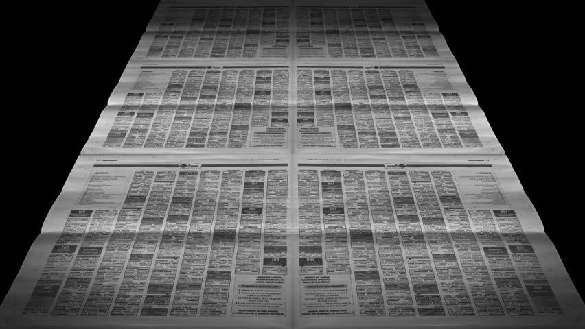 Newspapers Printing Loop, Newspaper press at work - seamless loop Full HD and 4k. | Shutterstock HD Video #14988631