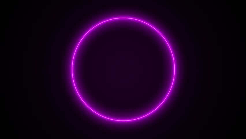 abstract neon circle loop purple motion background #15041104