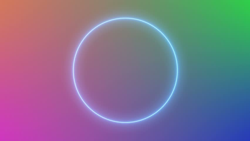 abstract neon circle loop motion background #15041131
