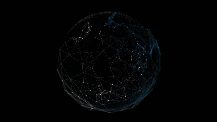 Abstract network connection background. Technology and Connectivity Concept. Molecule And Communication Background. Circular Design and Moton | Shutterstock HD Video #15043537