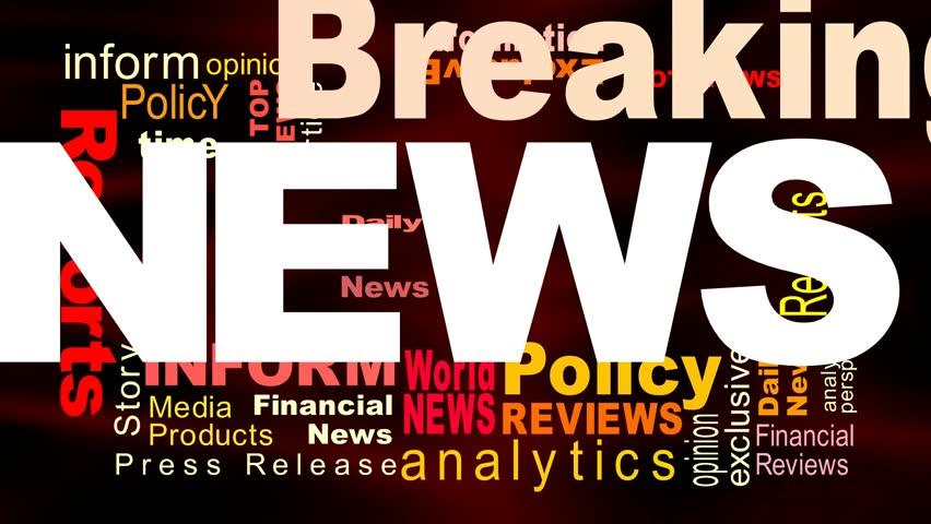 Breaking News - Flying Words   Shutterstock HD Video #15061552