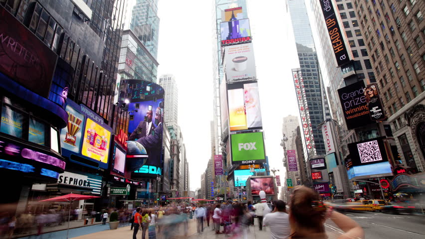 NEW YORK - OCTOBER 4: (Timelapse View) The famous and iconic Times Square, OCTOBER 4, 2011 in New York.  | Shutterstock HD Video #1508111
