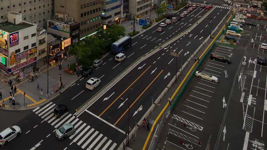 OSAKA - 21 MAY: Timelapse view of Umeda area in Osaka city, the second largest city in the country on 21 May 2015 in Osaka, Japan #15084121