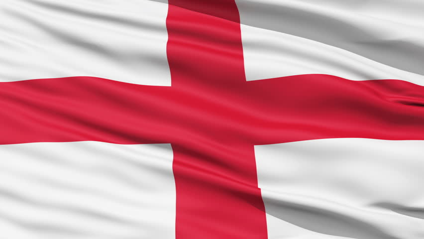 The waving Flag of England with the St George Cross emblem,seamless looping #1509857