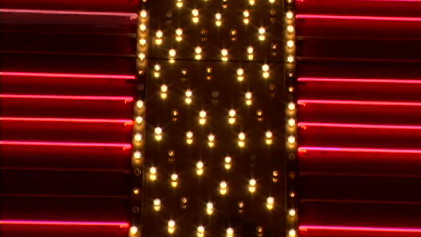 Blinking red and gold neon lights | Shutterstock HD Video #1511059