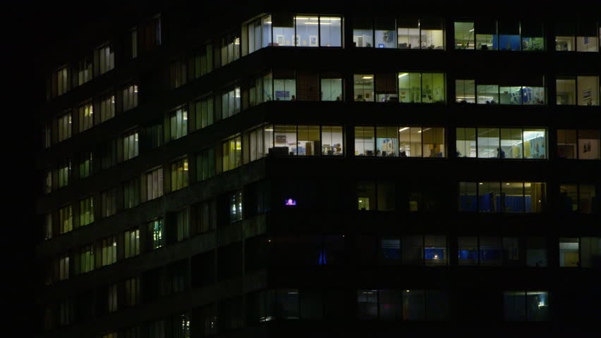 LONDN, JAN 2015: 4K Night time exterior view of large modern city hospital UK -- January, 2015 | Shutterstock HD Video #15123232