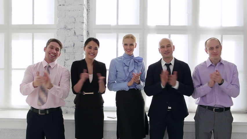 Business team welcomes new employee/Welcome to Our Business Team | Shutterstock HD Video #15134761