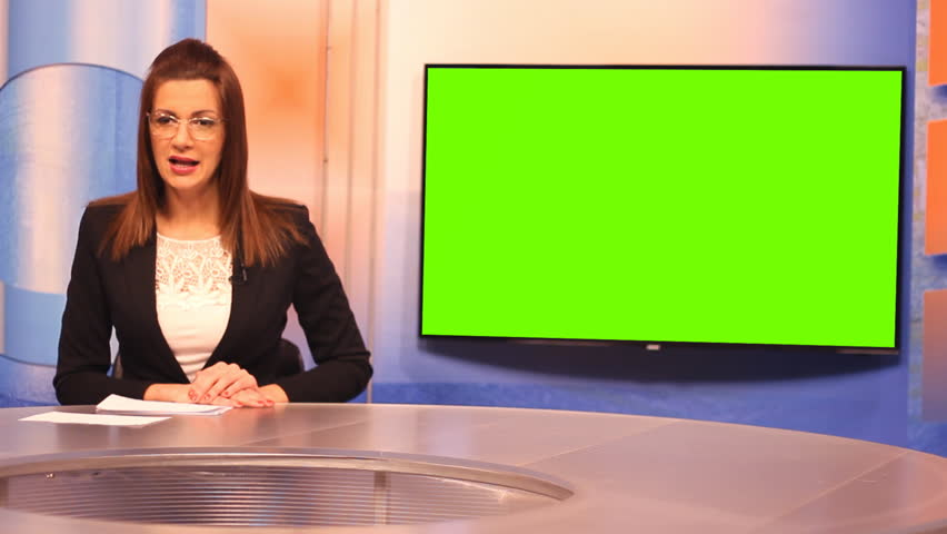 TV presenter ,Green Screen background  | Shutterstock HD Video #15138406