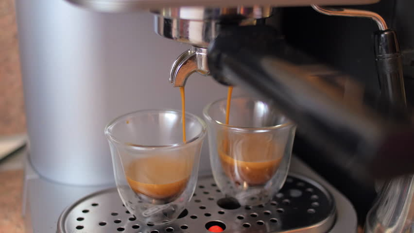 Two Cups of Espresso Being Stock Footage Video (100% Royalty-free ...