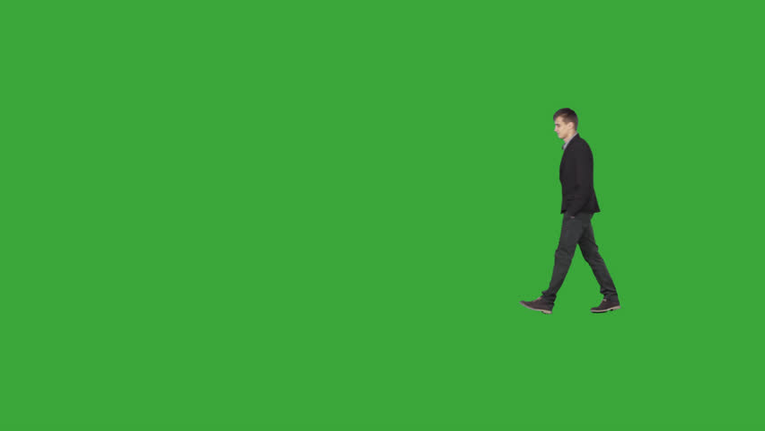 Young professional, business man, manager, in smart casual clothing  walks through office Cut out on transparent background File format - .mov, codec PNG+Alpha. Shutter angle -180 (native motion blur)