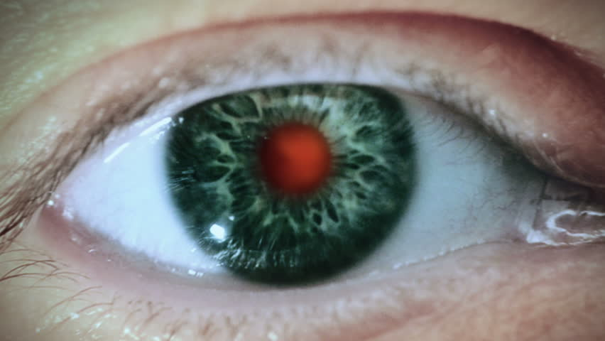 Neurons. Zoom through eye to human neural network system. Royalty-Free Stock Footage #15149983
