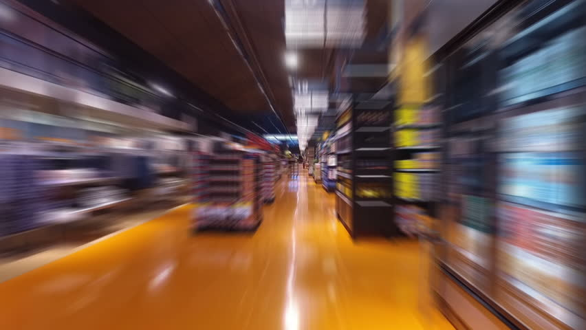 Grocery Store Shopping - Smooth steady flowing shot | Shutterstock HD Video #15161818