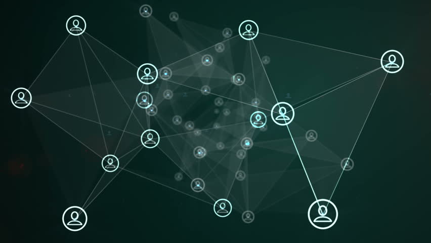 Social Networking Animation Green Royalty-Free Stock Footage #15188914