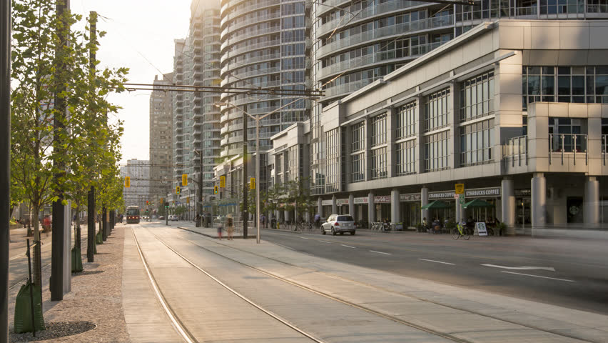 Toronto, ON, Canada | 2015 August 31st | 4K Timelapse sequence of the Queens Quay. | Shutterstock HD Video #15199717