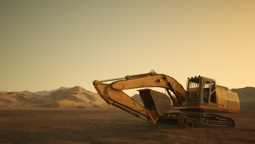 02563 Excavator Rotate At Construction Site