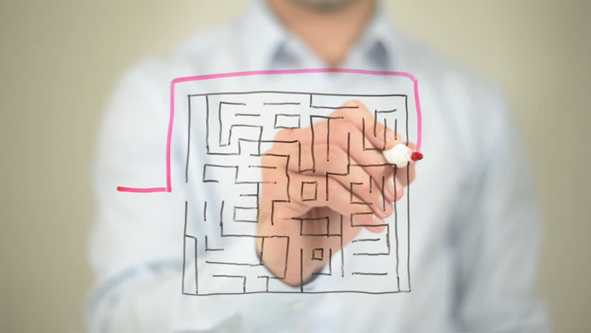 Business Maze, Business Market Growth Concept
