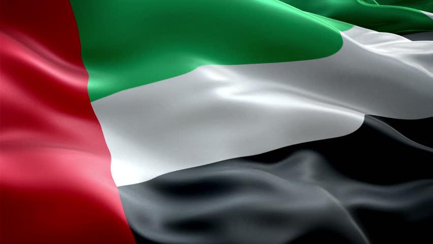 United Arab Emirates national flag. UAE (New surge effect)