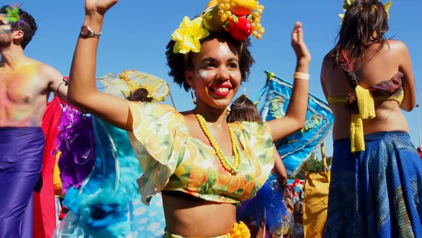 Brazil, State of Rio de Janeiro, City of Rio de Janeiro, Gloria - February 09, 2016: Bloco Orquestra Voadora Carnival Parade.