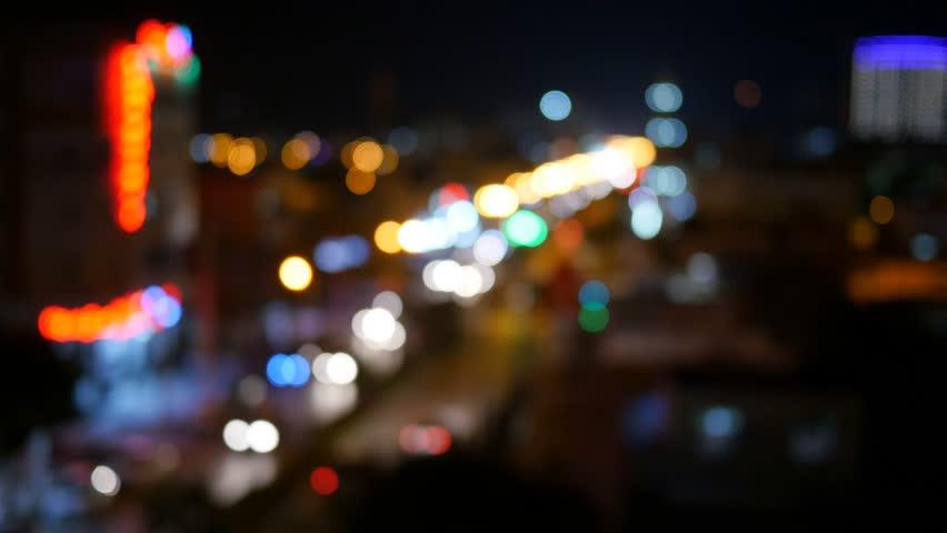 Blurry Unfocused City Lights Night Stock Footage Video 100 Royalty Free 15300184 Shutterstock