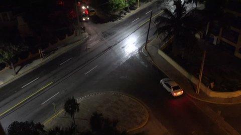 Night traffic in Varadero, Cuba