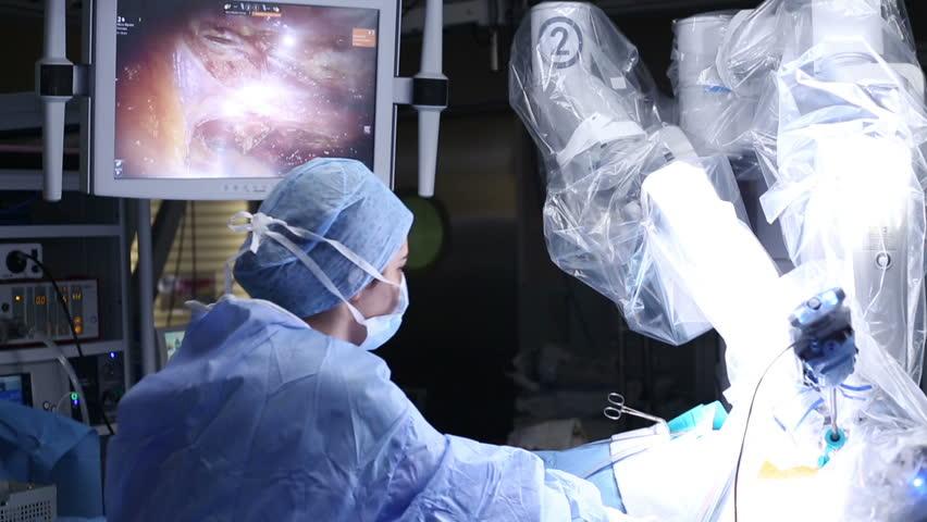 ISTANBUL, TURKEY, February, 2016: Robotic Surgery. Medical robot - Stock Video | Shutterstock HD Video #15319048