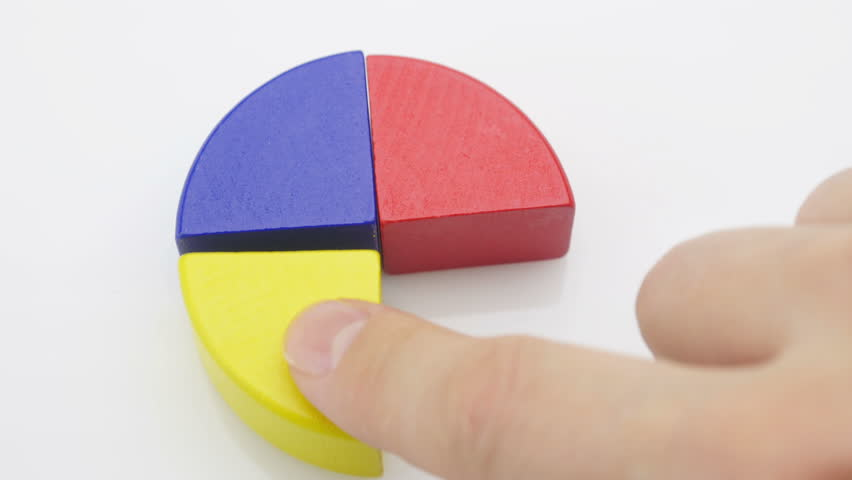 Hands putting piece of chart. Businessmen divide in parts the profit between themselves.  | Shutterstock HD Video #15331816