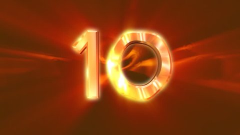 Countdown from 10 to 1