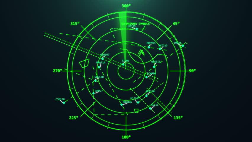 Airport air traffic control radar. Airport air traffic control radar. Screen. Monitor. Flight control. Security