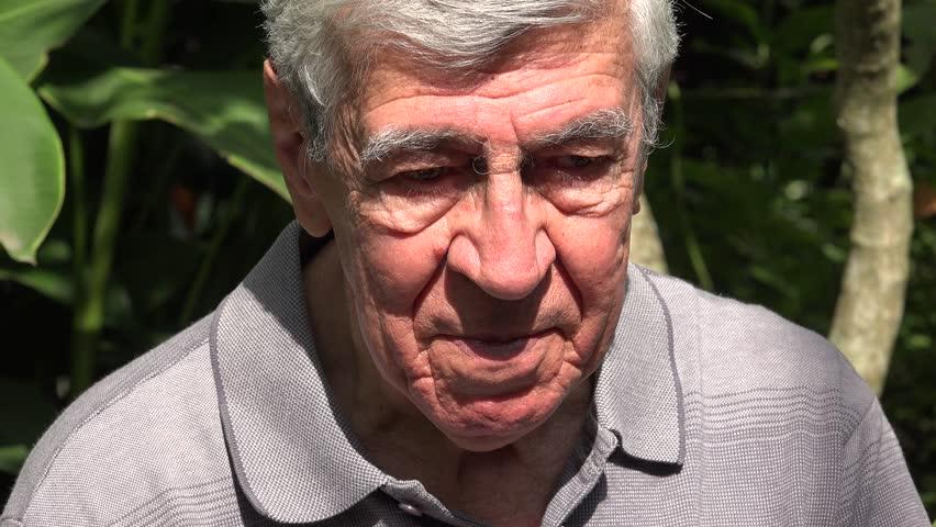 Sad And Depressed Elderly Man | Shutterstock HD Video #15368215
