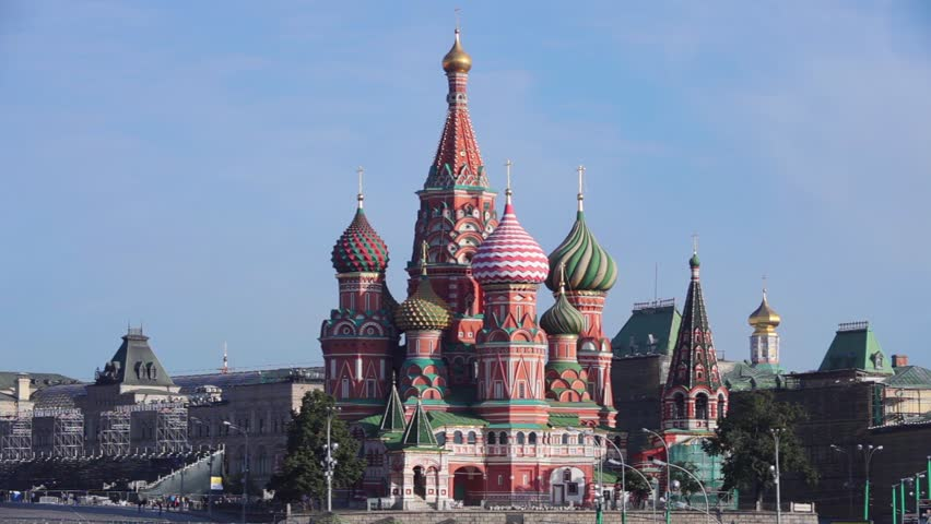 Red Square, Moscow Kremlin, St Basil's Church, | Shutterstock HD Video #15376393