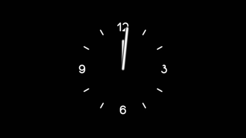 Motion background with spinning clock in 12 hour seamless loop. (24s/30fps) | Shutterstock HD Video #1538791