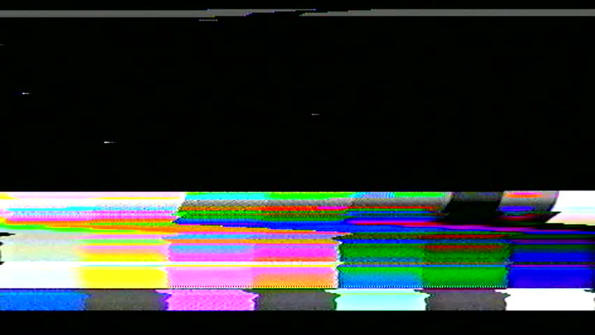Television color bars VHS bad signal green screen  | Shutterstock HD Video #15390316